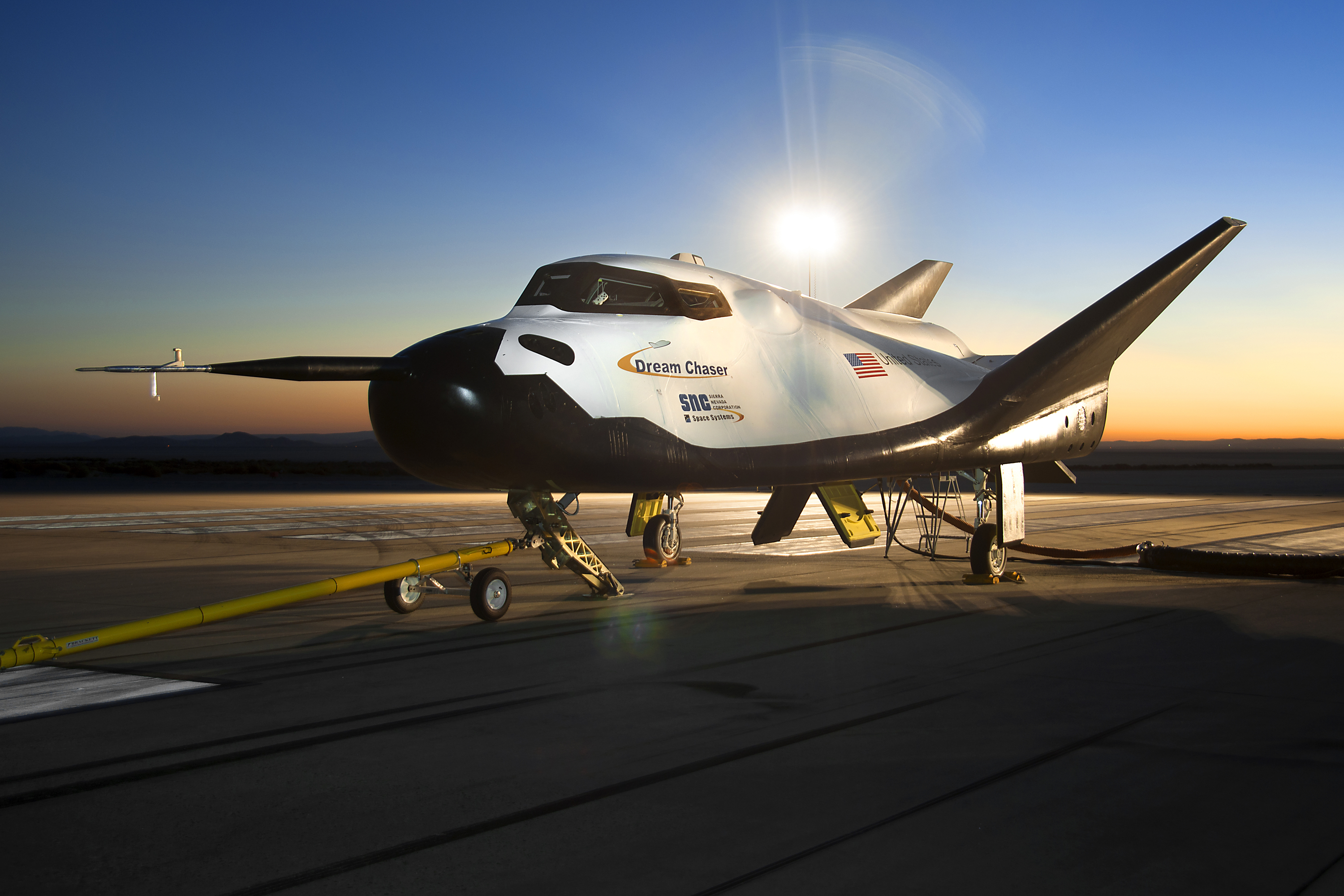 Dream Catcher Airplane SNC's Dream Chaser Rolls through Ground Tests NASA 14