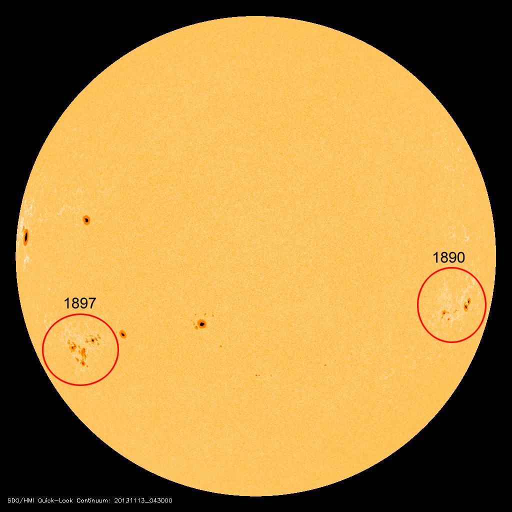 Sunspots: Coming and Going