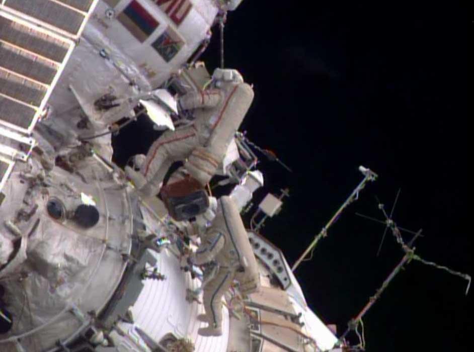 Station Spacewalkers Deploy Nanosatellite, Install and Retrieve Scienc