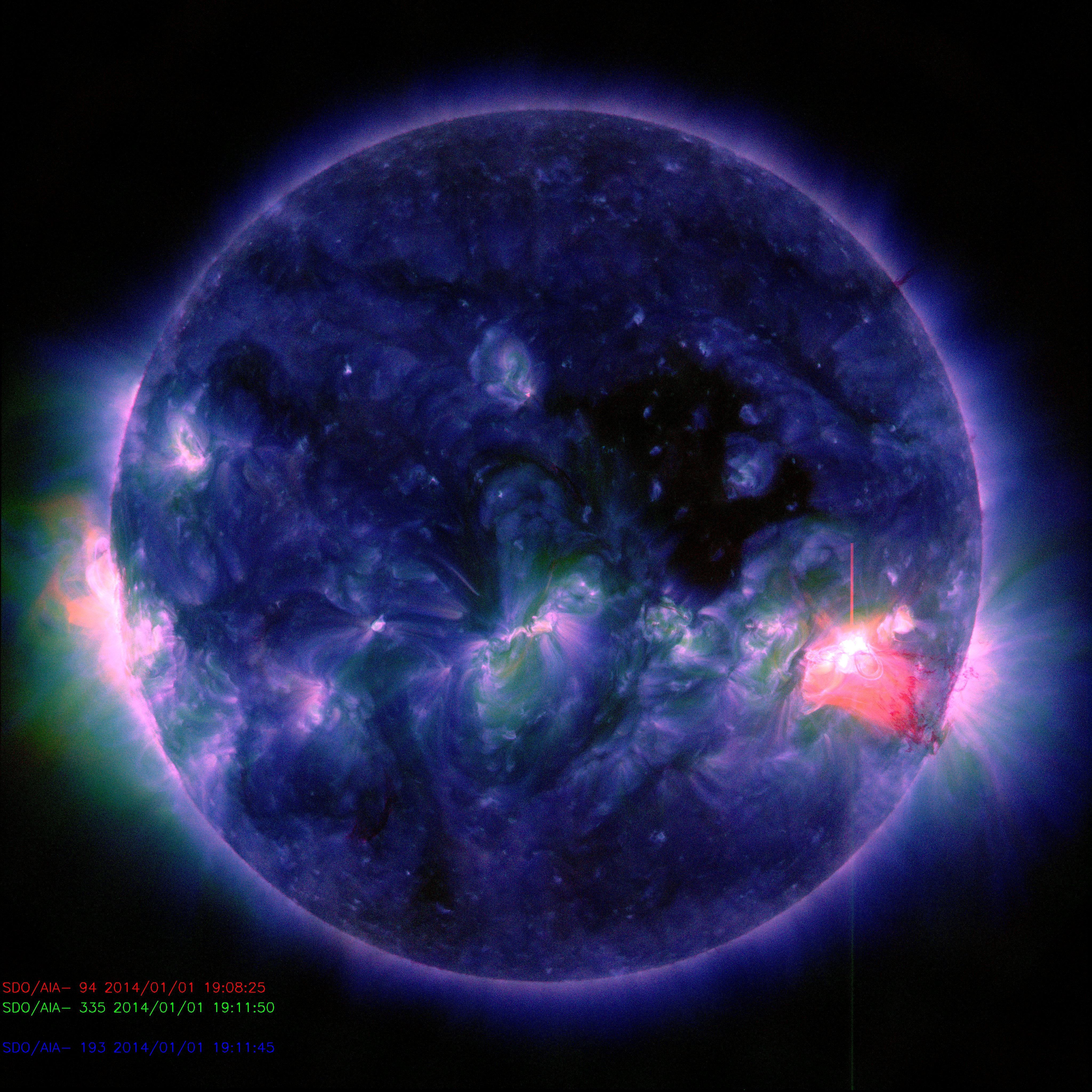Sun Welcomes 2014 with Mid-level Solar Flare | NASA