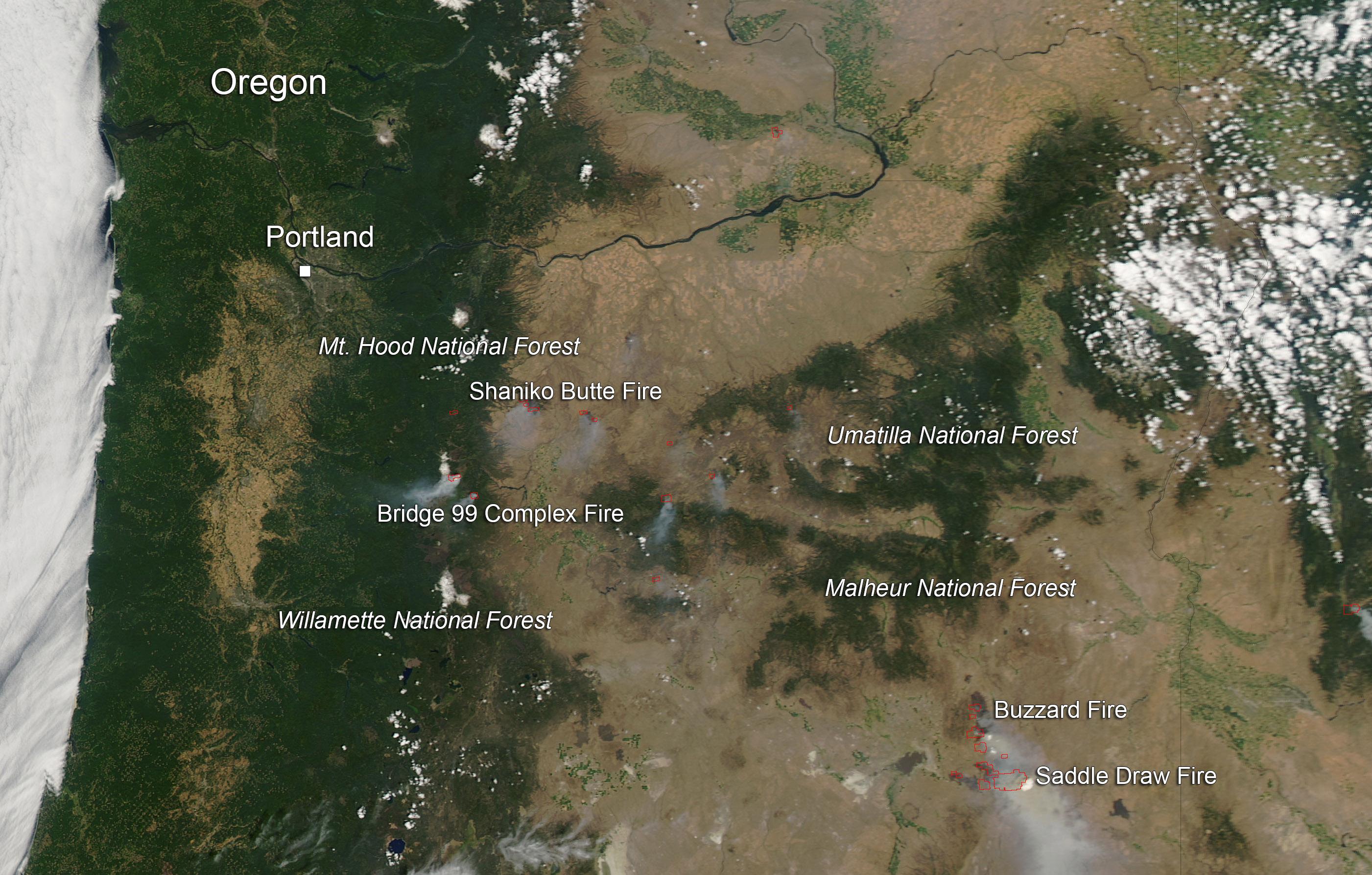 Dozens Of Fires Plague Oregon Nasa