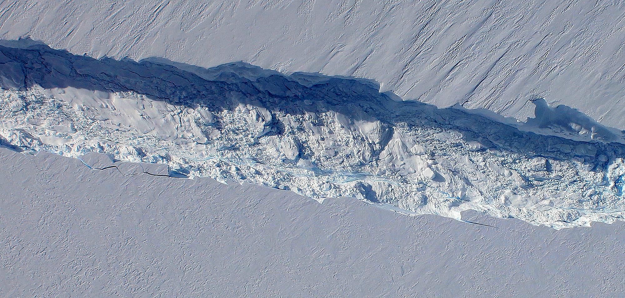 View of the Pine Island Glacier rift