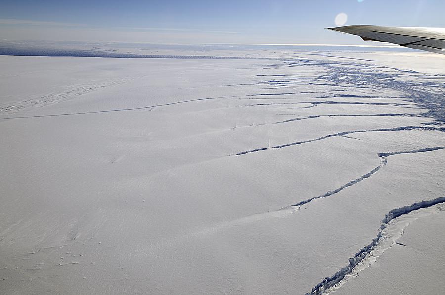 Crack in Pine Island Glacier