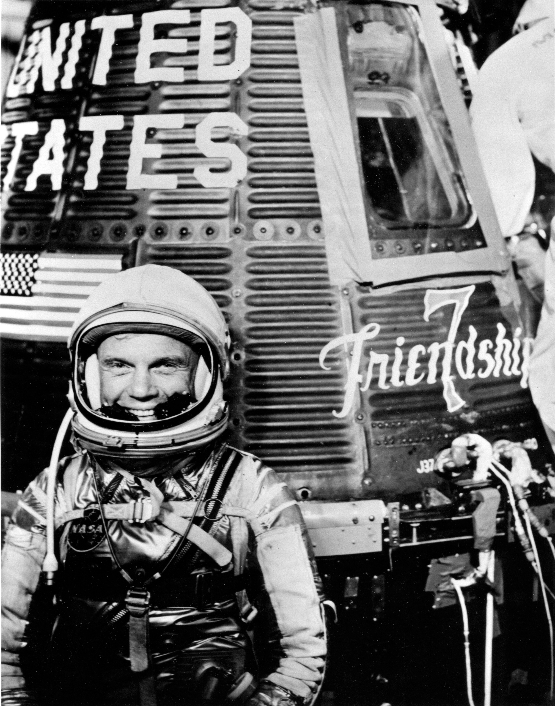 Astronaut John Glenn During Mercury-Atlas 6 Pre-launch Activities ...