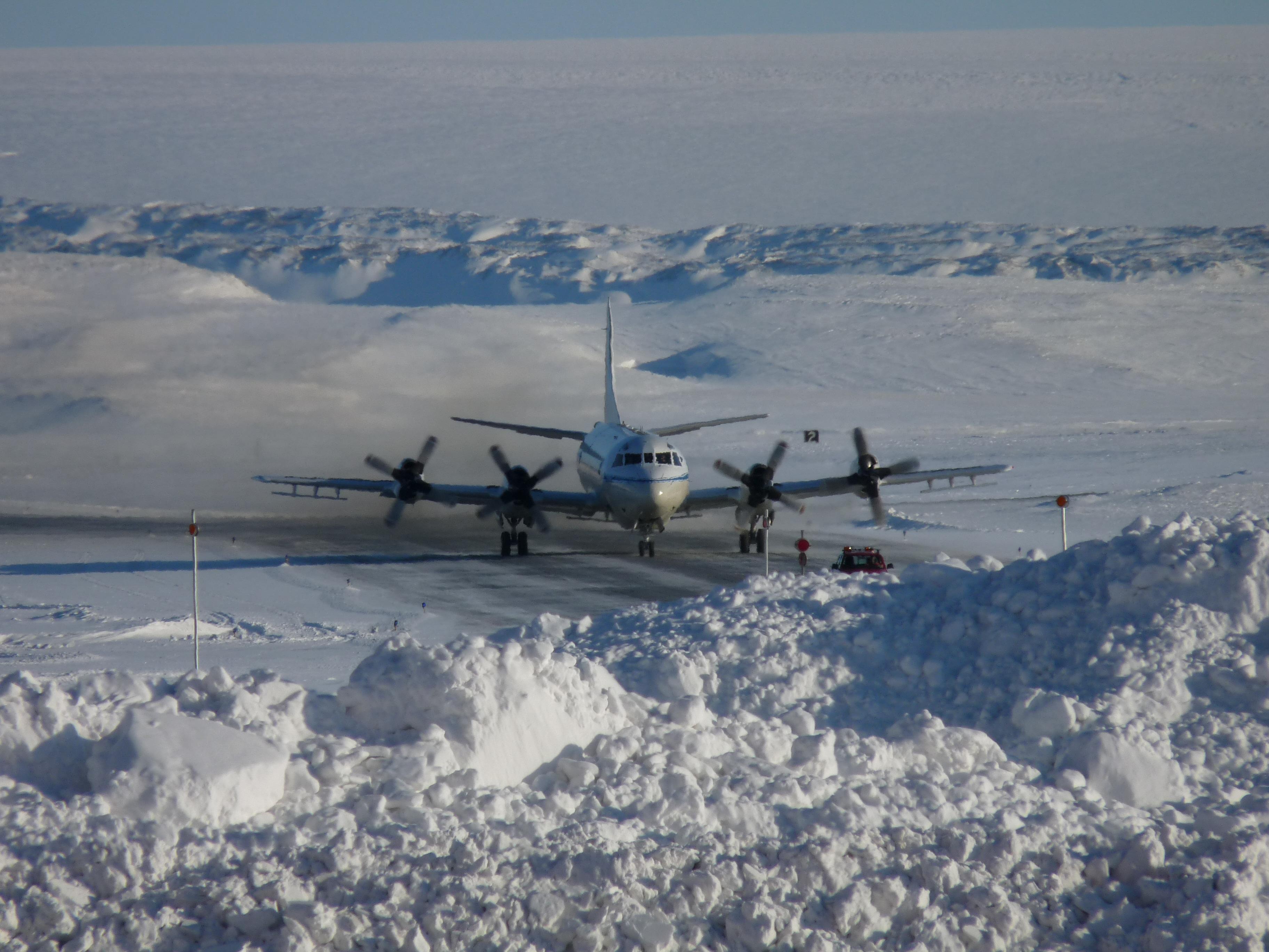 P-3B Arrives at Thule from Alaska   NASA