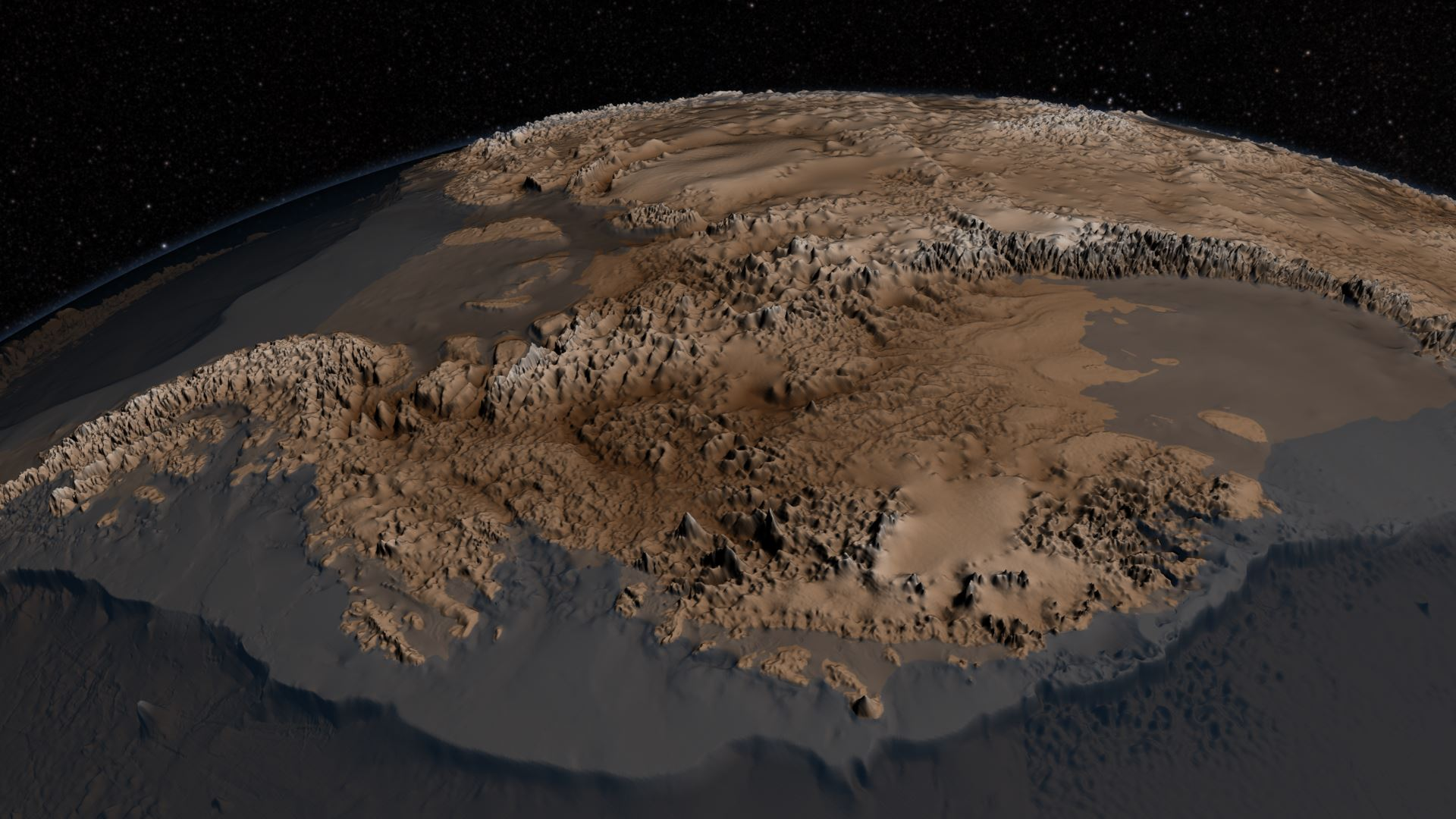 antarctica without ice map Nasa S Icebridge Mission Contributes To New Map Of Antarctica Nasa antarctica without ice map