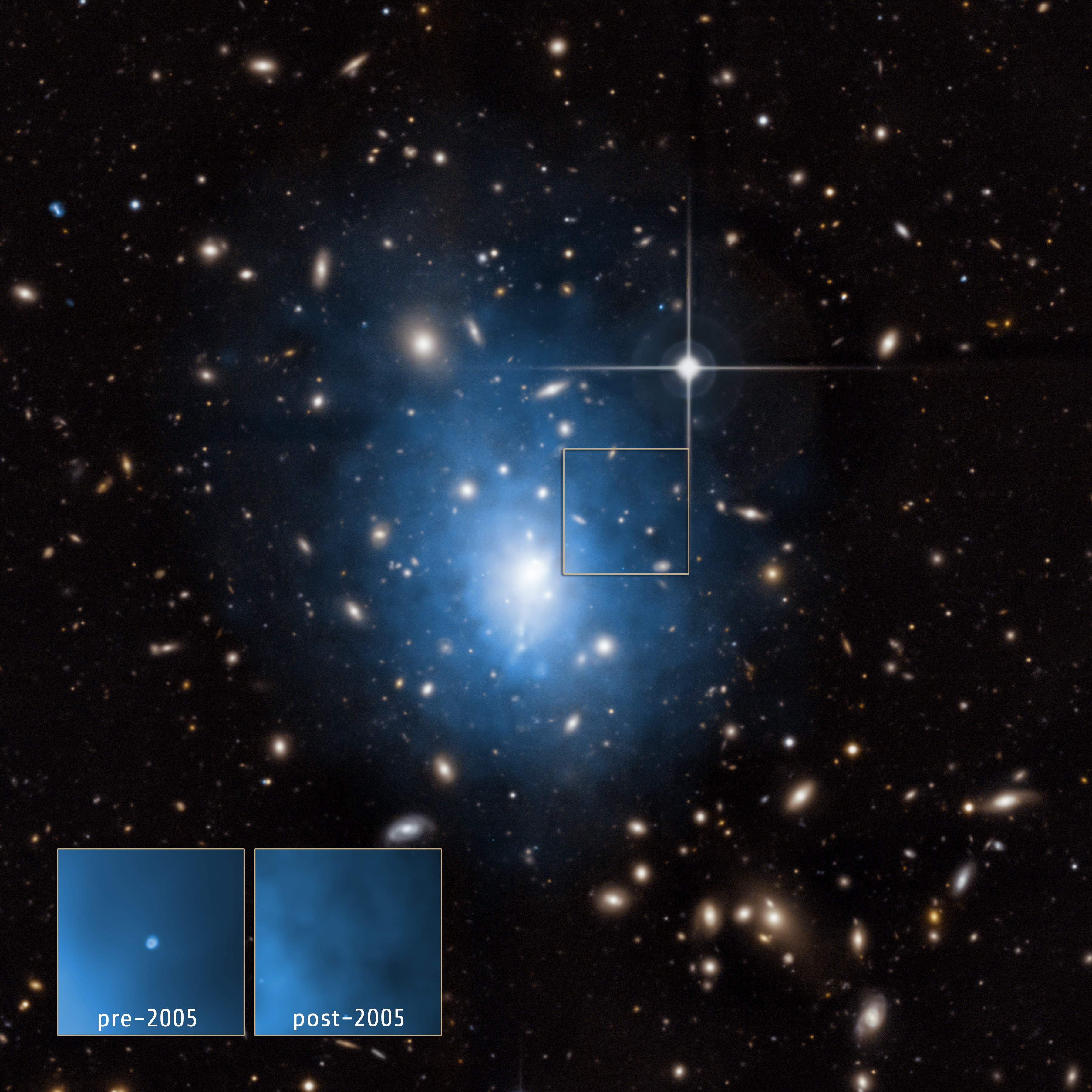 [ Watch the Video: A Tour of Galaxy Cluster Abell 1795 ]