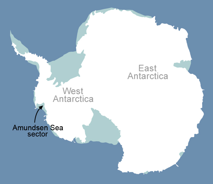 Map Of Antarctica Showing Amundsen Sea