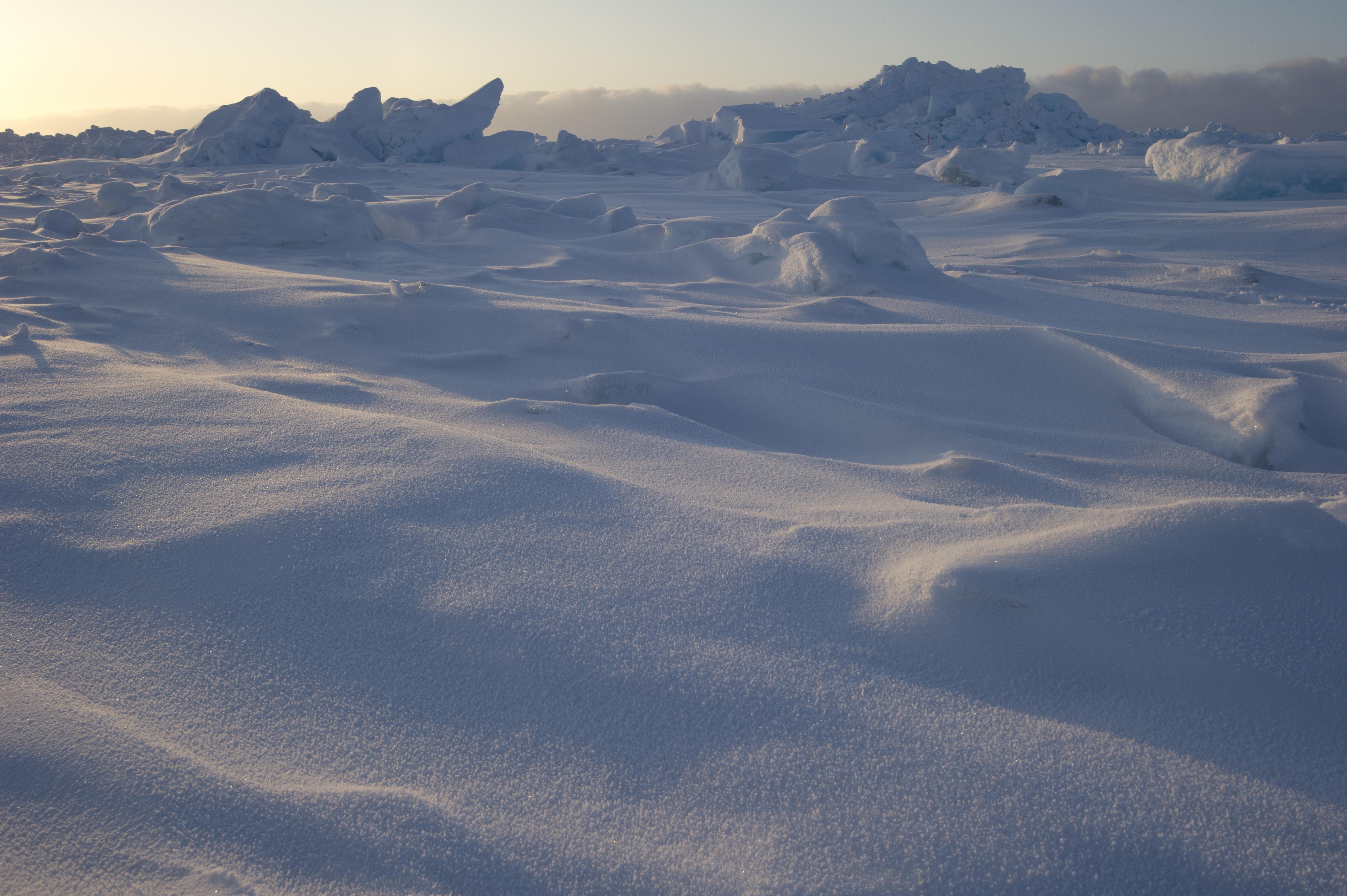 looking at snow depth with nasa data