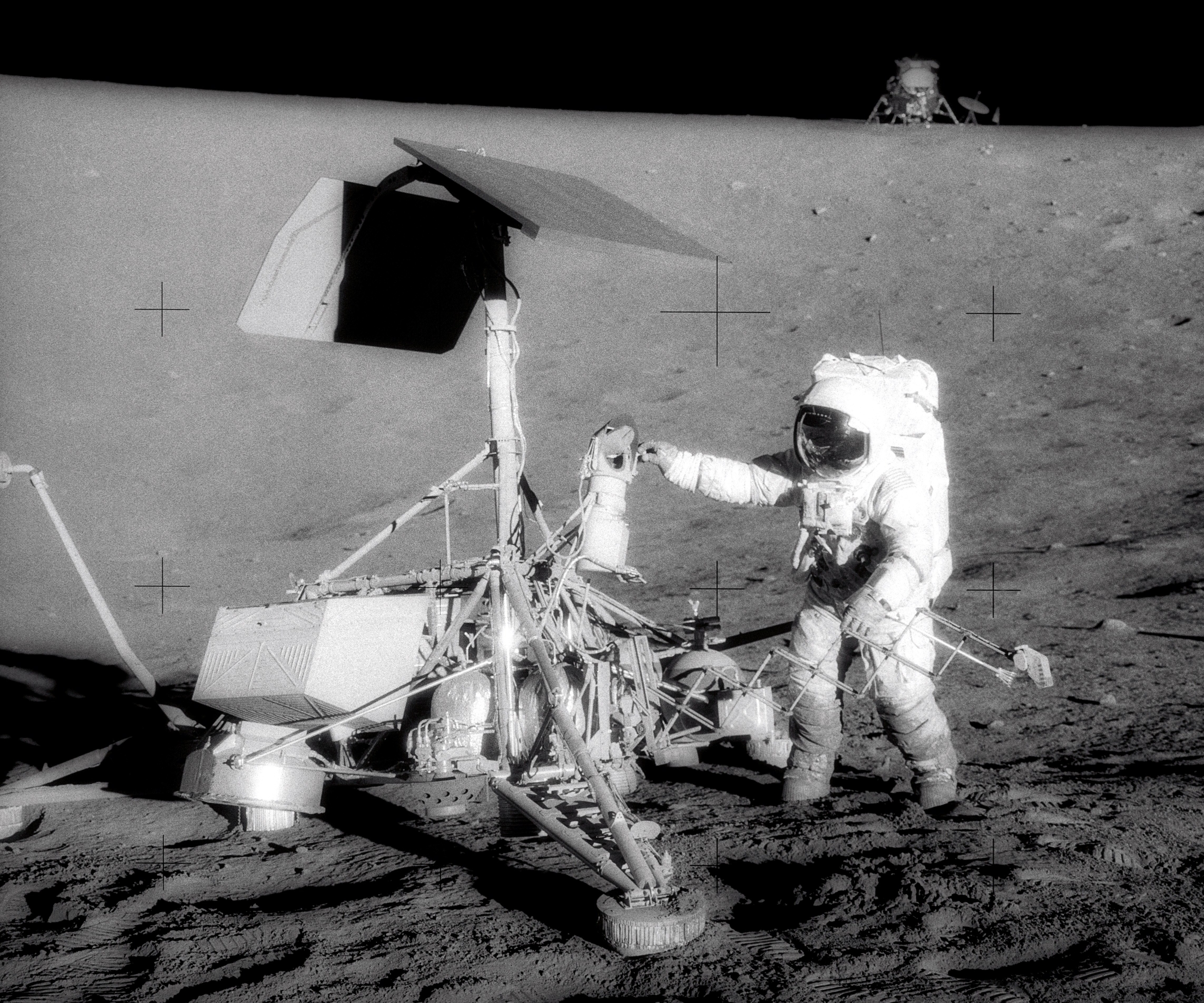 How many attempts were made to land on the moon in the 60s?