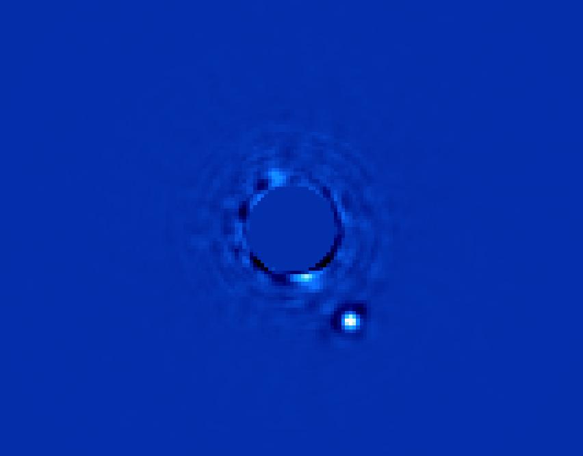 Beta Pictoris B orbiting its star