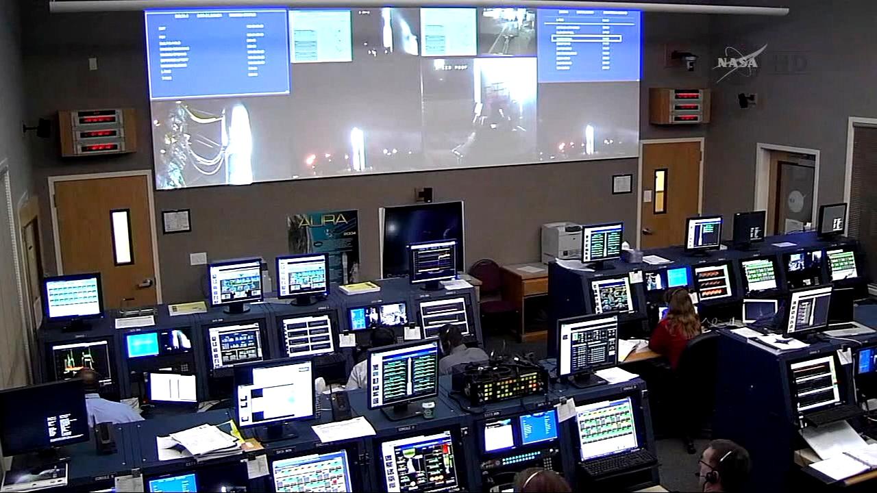 Launch Control Engineers Follow Countdown Nasa
