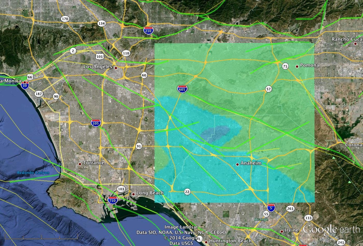 NASA Model Provides A D Look At LAarea Quake NASA - Los angeles doppler map