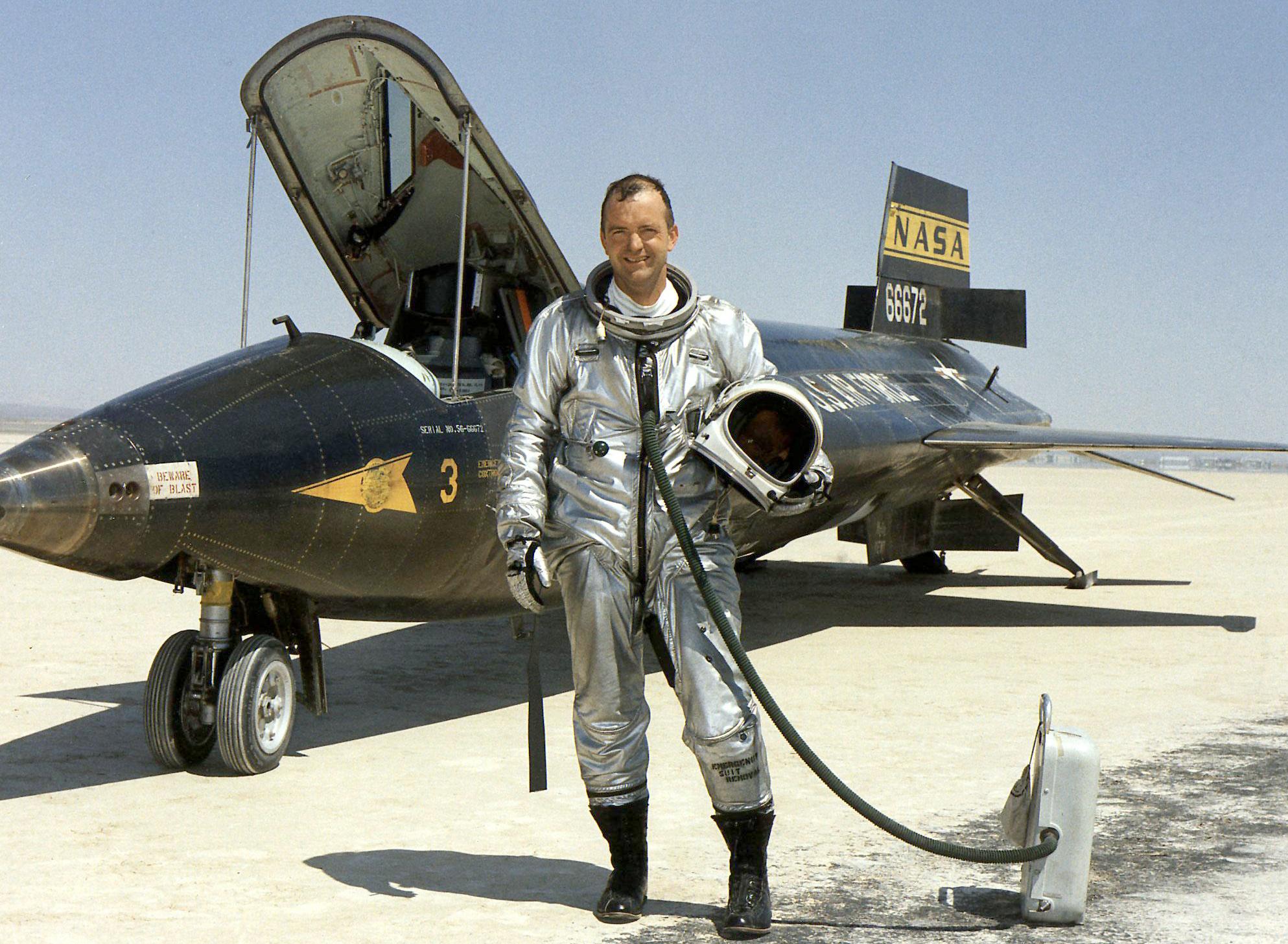 Test Pilot Bill Dana, NASA's First Employee, Dies   NASA