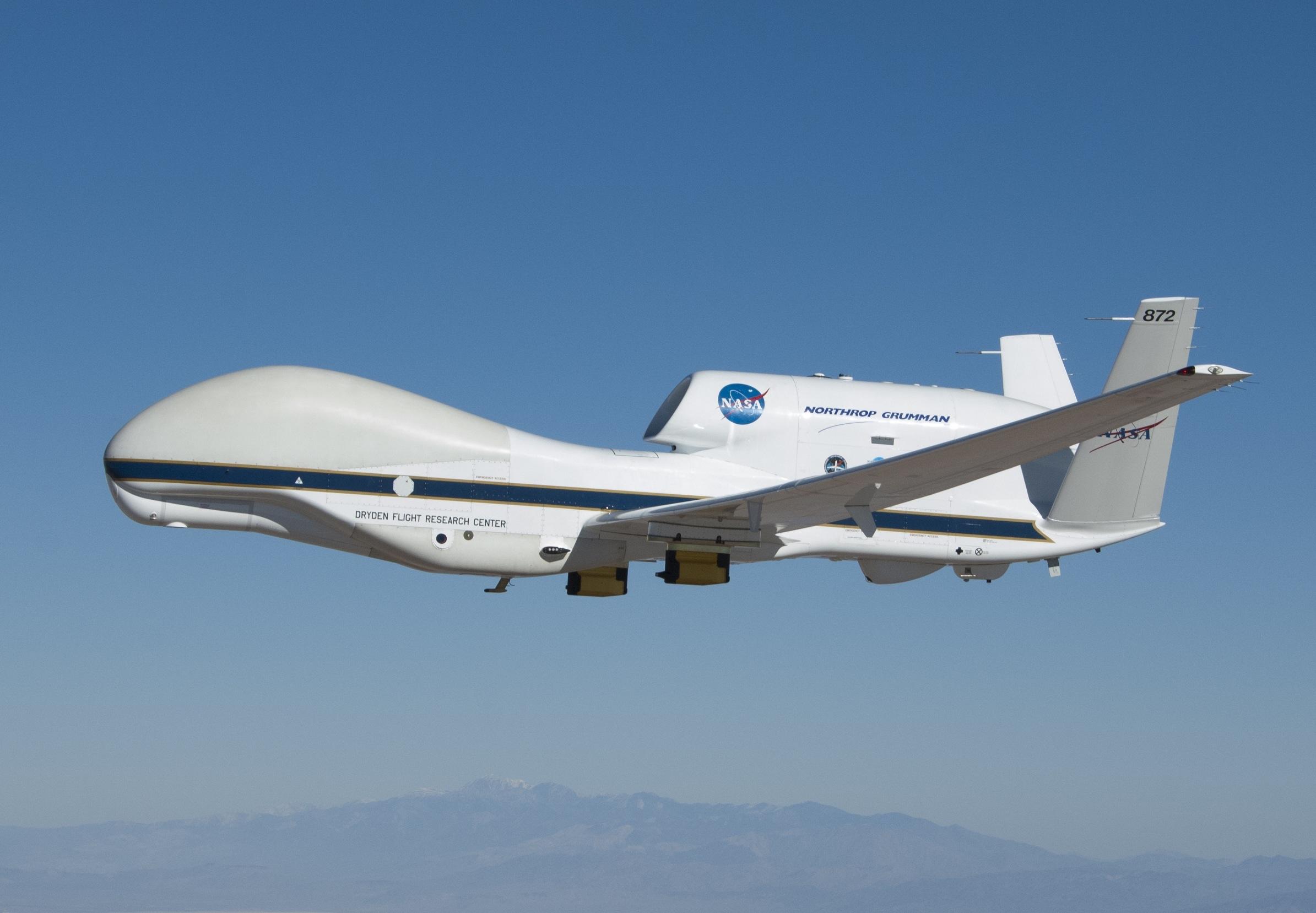 NASA's Global Hawk 872 Marks 100th NASA flight