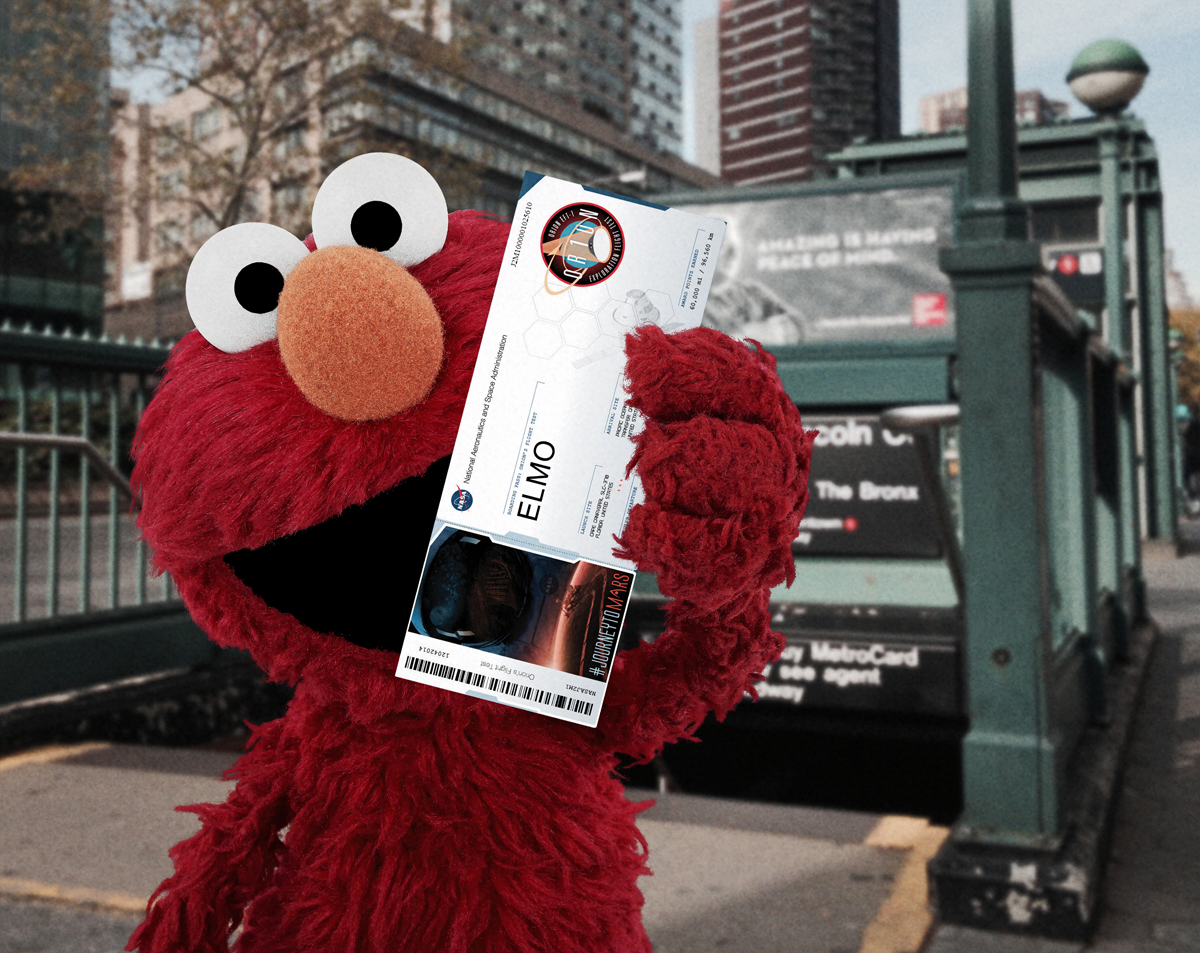 Sesame Street Characters On Board As Nasa Counts Down To