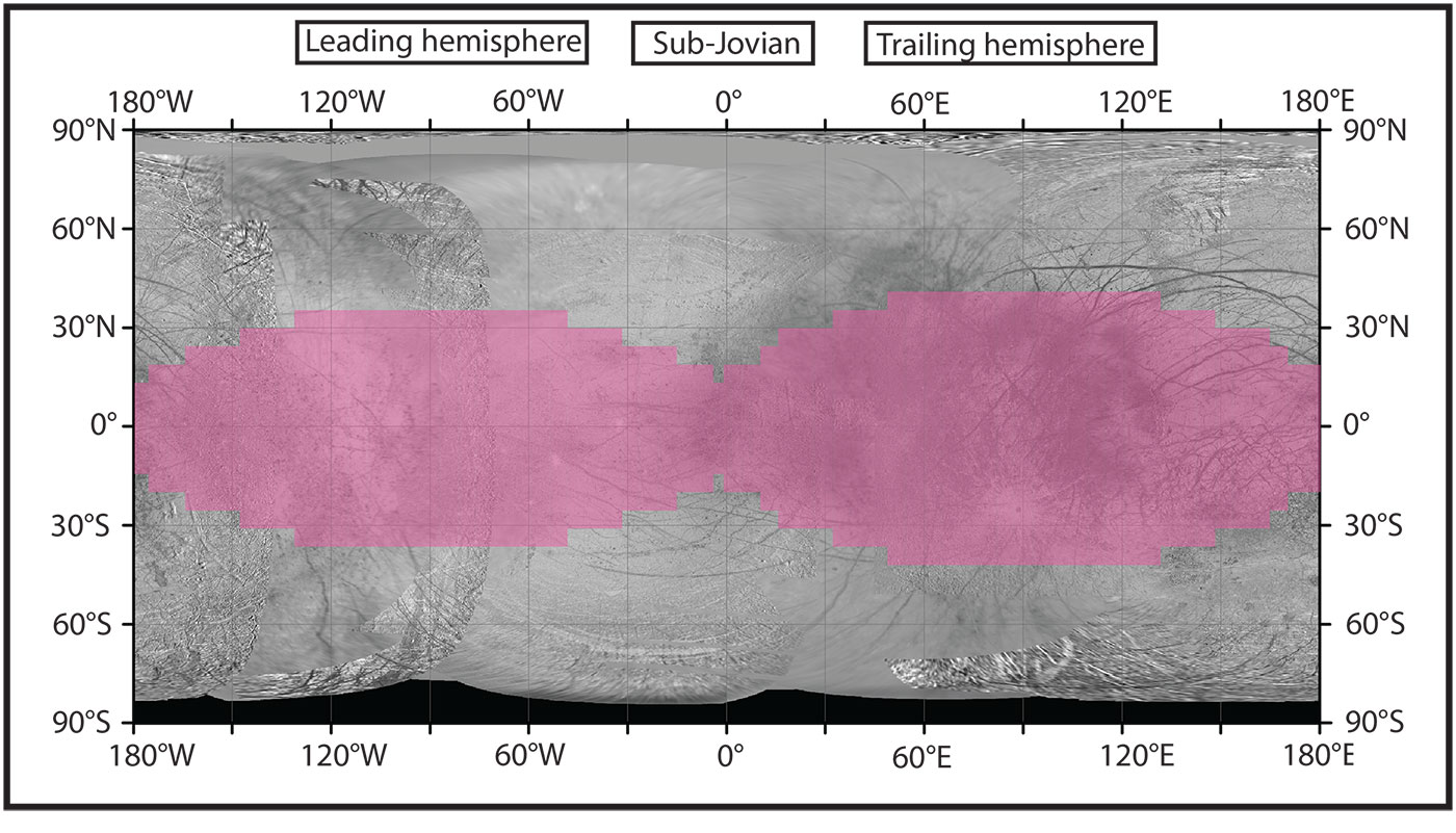 Radiation Maps of Jupiter's Moon Europa: Key to Future ... on us map, england map, japan map, united kingdom map, poland map, united states map, france map, uk map, texas map, mediterranean map, india map, asia map, russia map, north america map, canada map, iran map, germany map, africa map, italy map, mexico map, eurasia map, ural mountains map, world map, usa map, south america map,