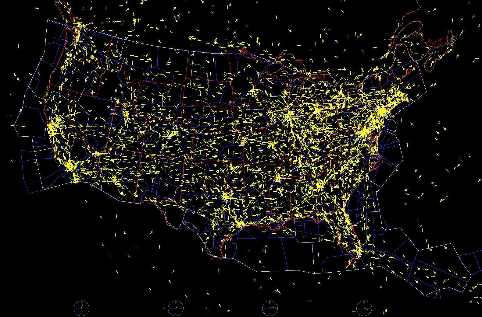 The Big Picture Wins Big Nasa - Us-air-traffic-map