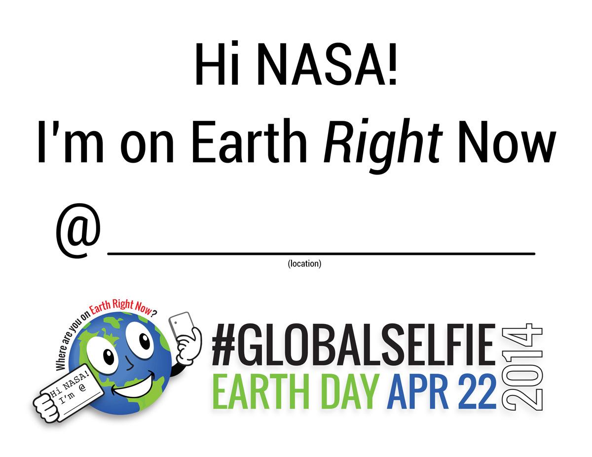 earth day 2014 globalselfie nasa