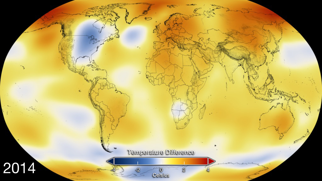NASA Releases Detailed Global Climate Change Projections NASA - Color temperature us voting map