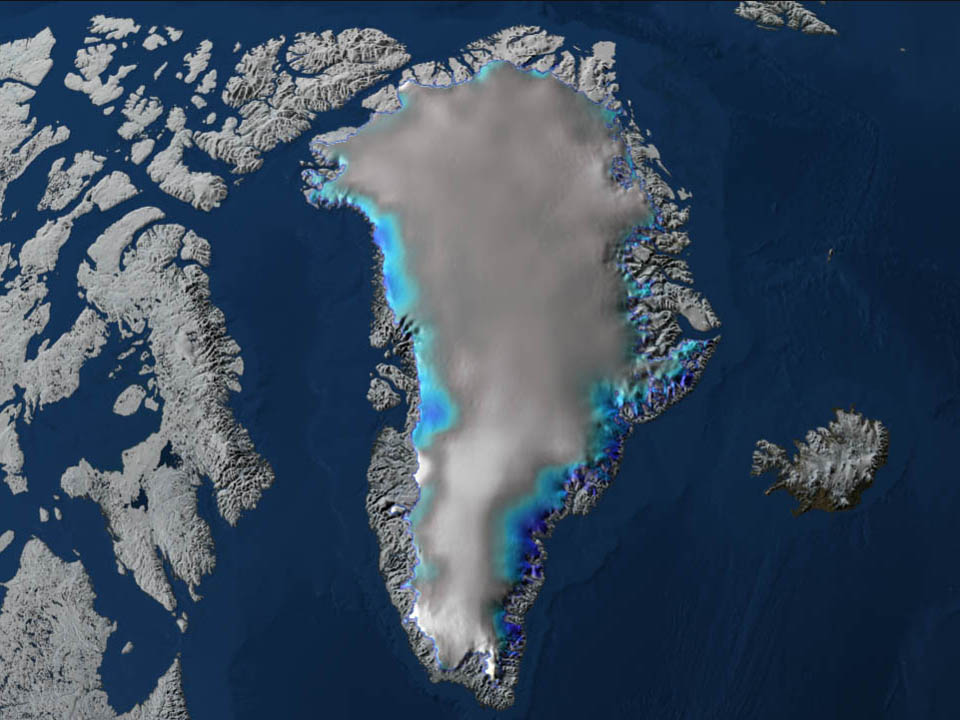 Airborne Campaign To Map Greenland Ice Sheet Summer Melt Begins NASA - Us gove ice map
