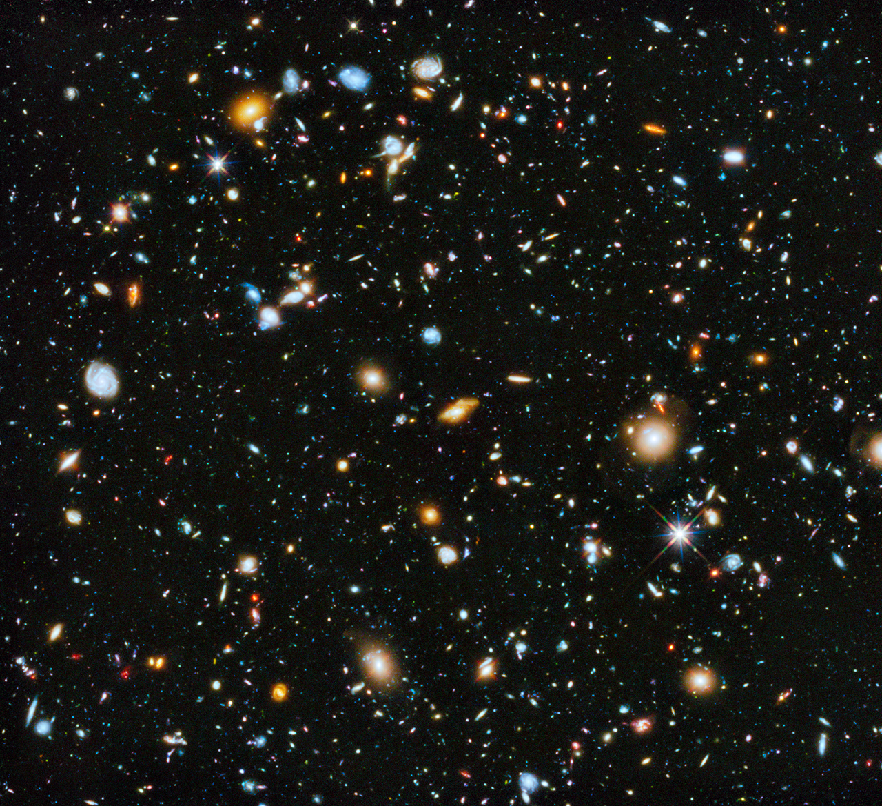 most colorful view of universe captured by hubble space telescope nasa