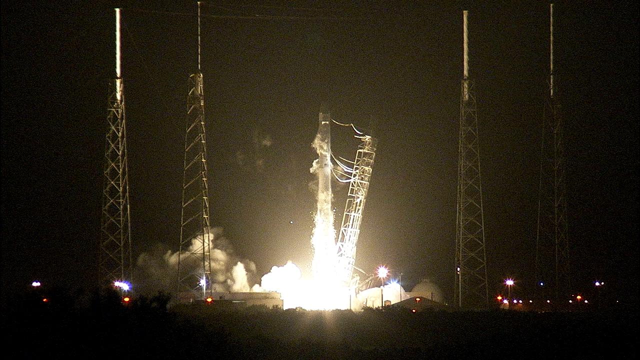 Falcon 9 Rocket Roars to Life | NASA