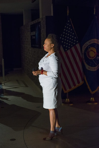 "Jennifer Simmons of the Office of Human Captial sang ""Climb Every Mountain"" for the finale of the 2013 NASA MSFC Annual Honor Awards ceremonies July 30."
