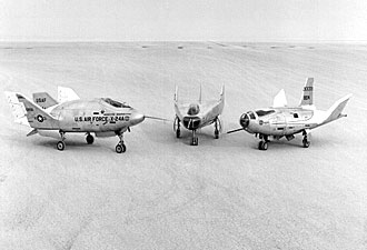 Lifting Bodies on Lakebed at Dryden