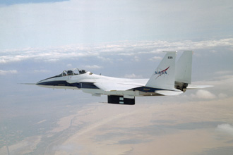 All six divots of thermal insulation foam have been ejected from the flight test fixture on NASA's F-15B testbed.