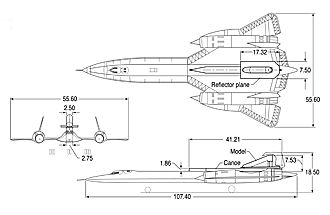 SR-71 LASRE 3-view drawing