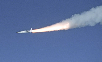 On X-43A mission Pegasus rocket ignites after release from B-52