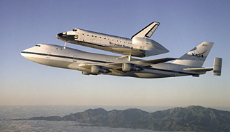 Space Shuttle Carrier Aircraft (SCA) in flight