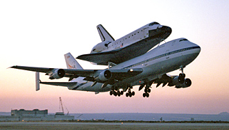 Space Shuttle Carrier Aircraft (SCA) takeoff