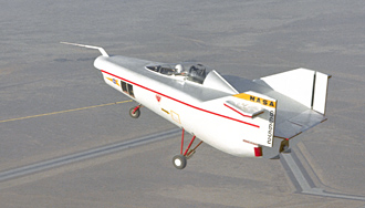 M2-F1 lifting body in flight