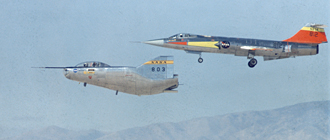 M2-F2 with F-104 chase