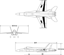 Three-view drawing of AAW.