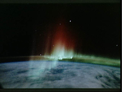 This is a view of the Aurora Australis, or Southern Lights, from STS 39 in 1991.