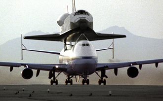 Shuttle Endeavour mated to 747 SCA