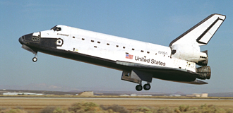 Shuttle STS-68 lands at Edwards Air Force Base in California