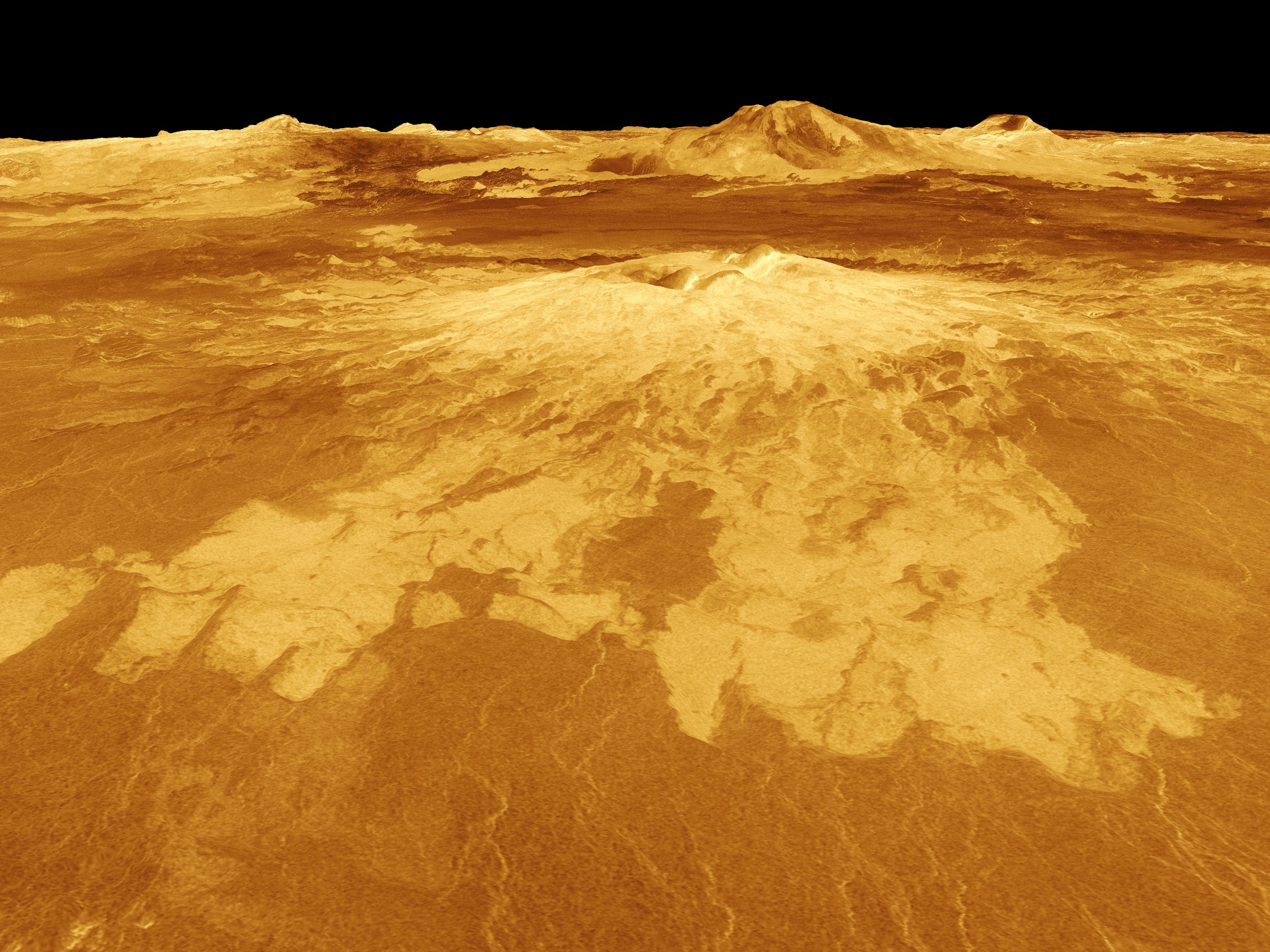 Volcano on Venus | NASA