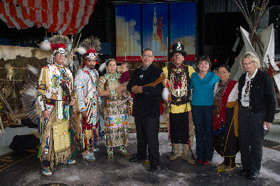 Team members from NASA's Marshall Space Flight Center recognized Native American Heritage month at a U.S. Space & Rocket Center event Nov. 26.
