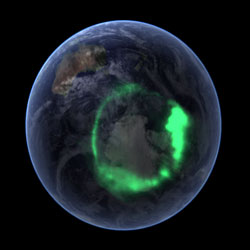 A view of the aurora australis taken by the IMAGE spacecraft