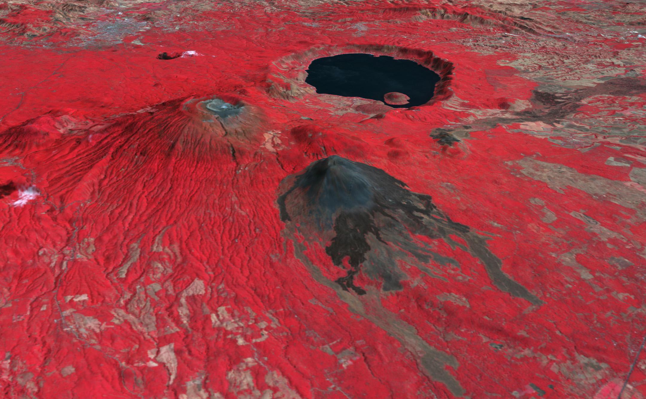 Santa Ana Volcano El Salvador NASA - Satellite image photo of el salvador