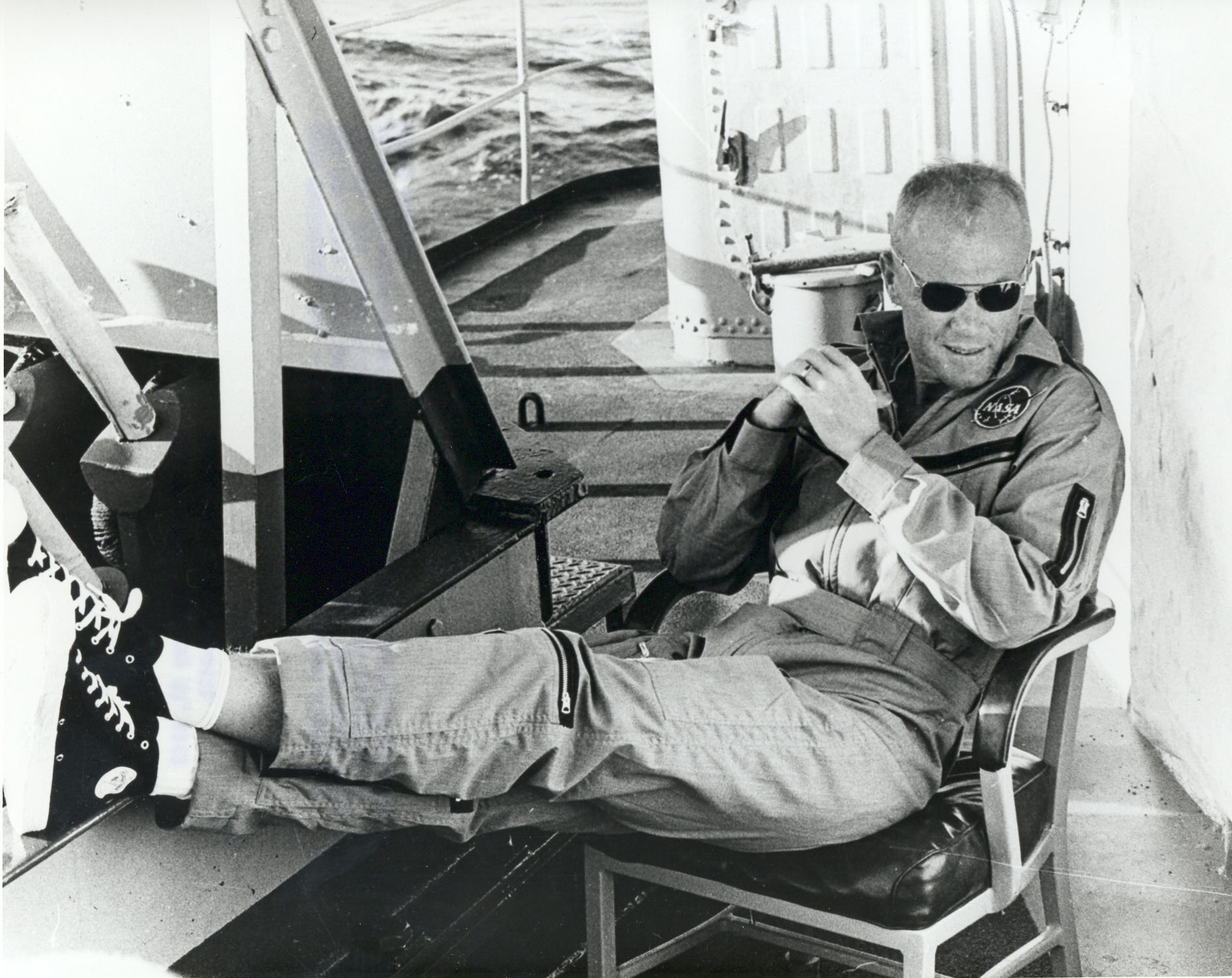 Archival Footage of when John Glenn went to Space for Second Time