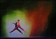 Image of a dancer dancing the auroral dance.