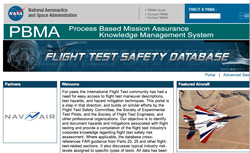 Website for Flight Test Safety Database