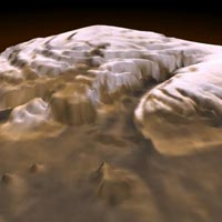 3d view of martian arctic