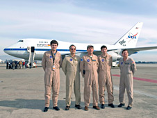 Flight crew of NASA's SOFIA airborne observatory and DLR telescope engineers.