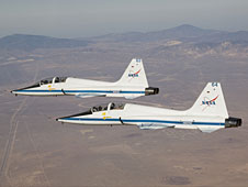 Two T-38Cs in flight